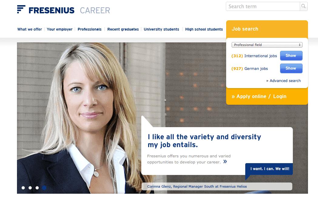 Fresenius online application