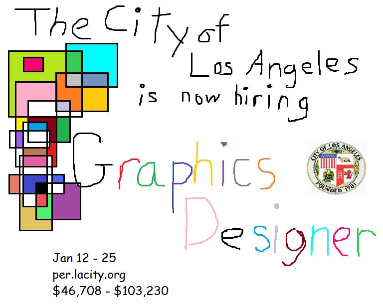 Graphic Designer City of Los Angeles Stellenanzeige