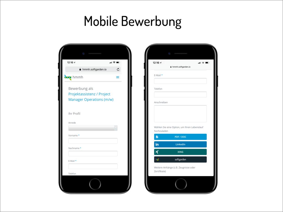 Mobile-Bewerbung