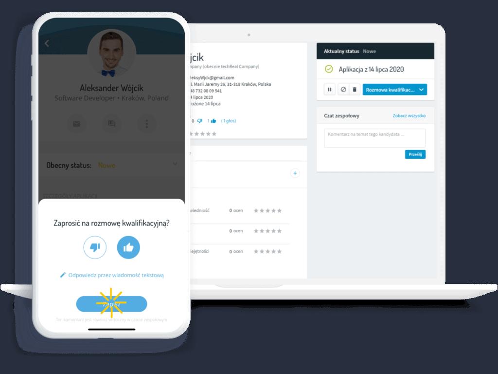 aplikacja głosowanie system rekrutacyjny