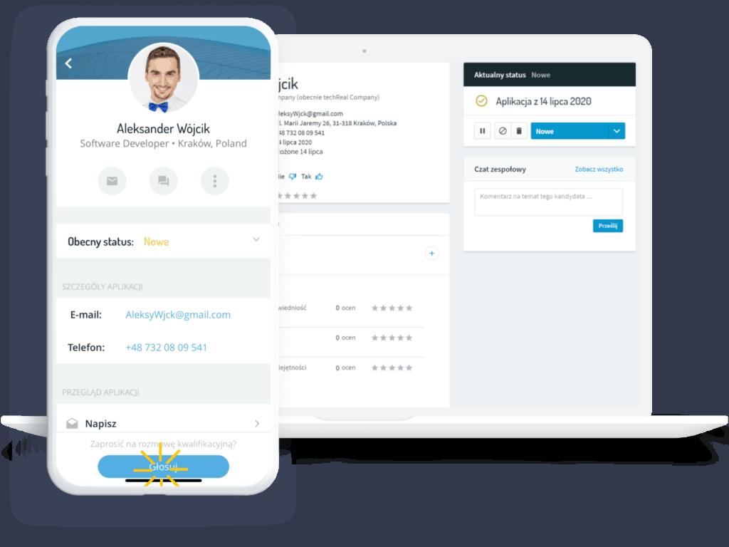 system rekrutacyjny Aplikacja prezentacja kandydata