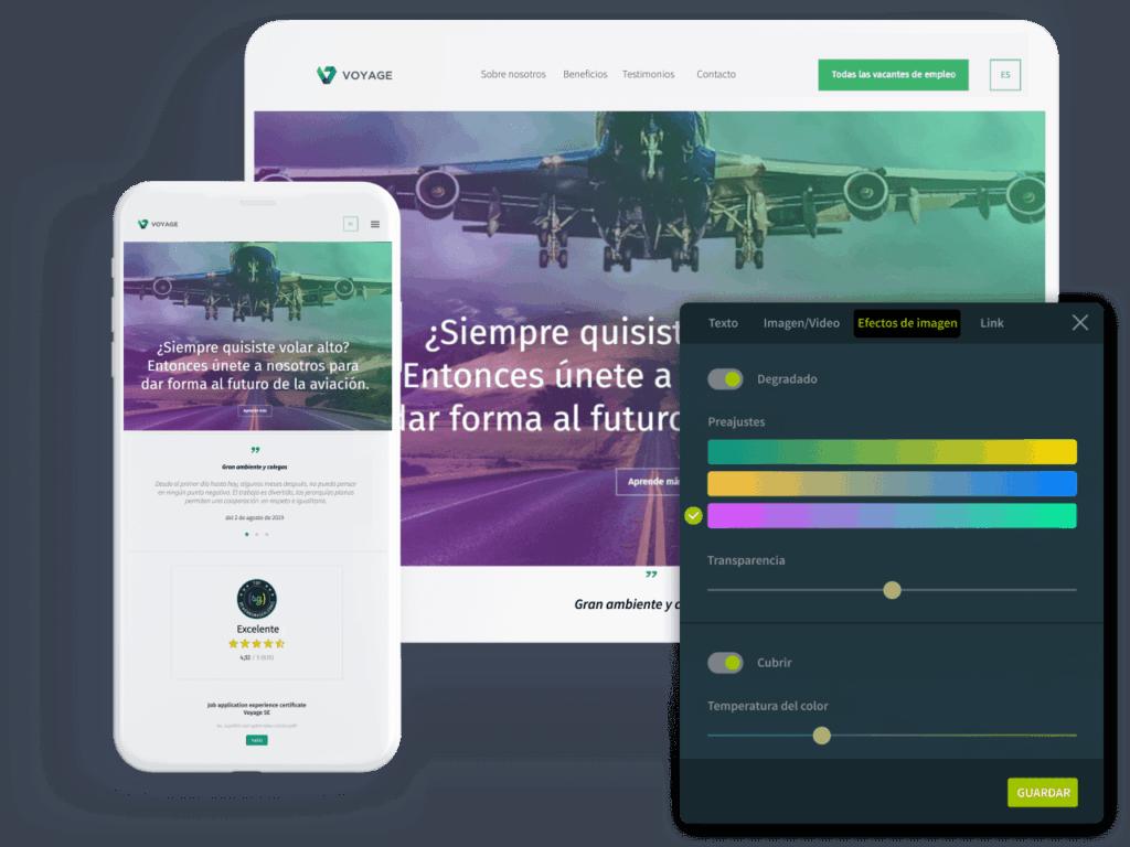 kit de construcción de sitios web profesionales de softgarden